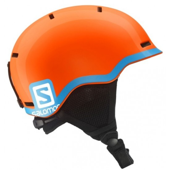 Kask juniorski Salomon Grom Fluo Orange / Blue