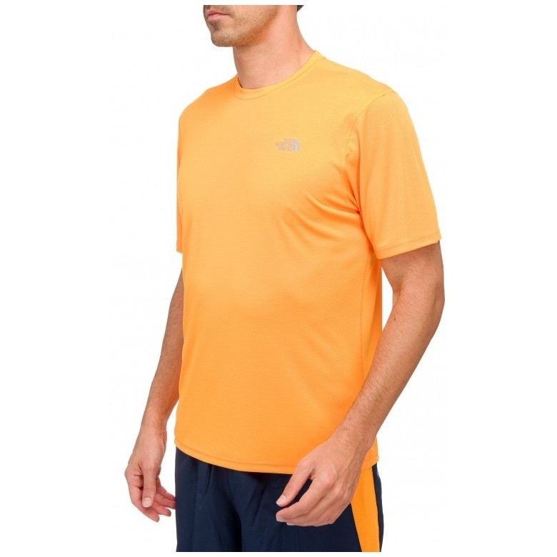 Męska koszulka The North Face M Solid Flex Crew Koi Orange/Nautical Blue