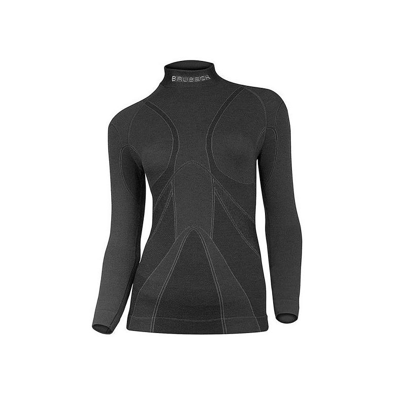 Damska bluza termoaktywna Brubeck Extreme merino Czarna