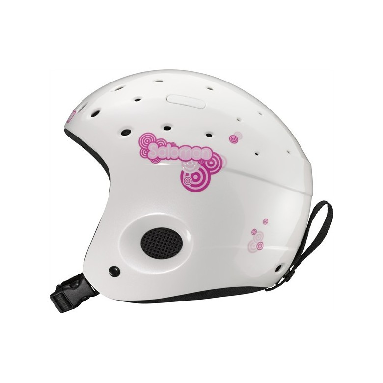 Juniorski kask narciarski Salomon Zoom White Pearl