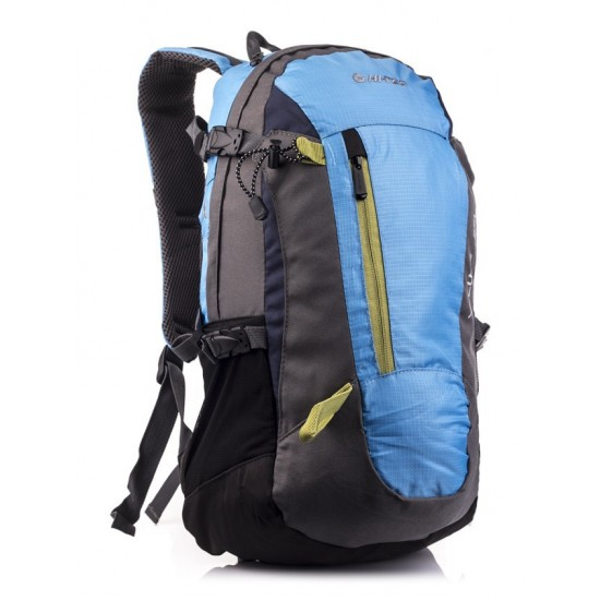 Plecak HI-TEC FELIX 25L BLACK/BLUE MELANGE/YELLOW ZIPPER