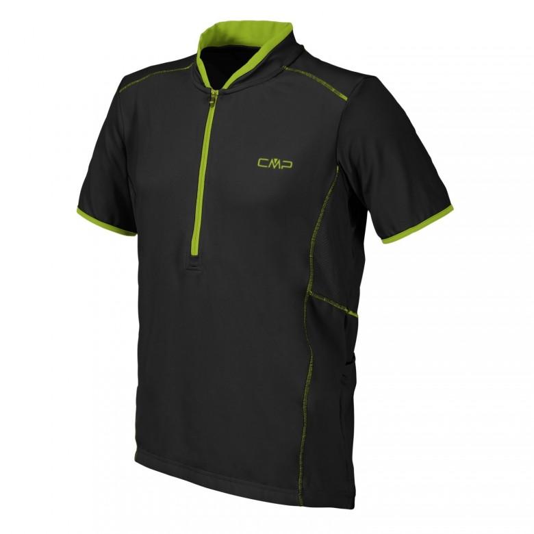 Męska koszulka rowerowa Campagnolo NERO U901 Czarna