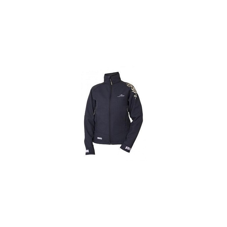 Damski Soft Shell Feel Free Birgu Black/ Check Look