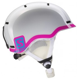 Kask juniorski Salomon Grom White Glossy / Pink