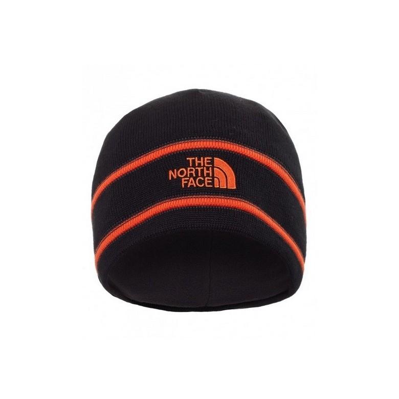 Czapka TheNorthFace Logo Beanie Czarno/Czerwona