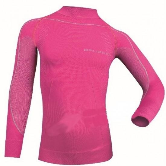Koszulka termoaktywa dziecięca Brubeck Thermo różowa